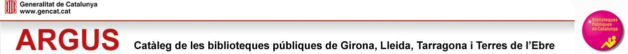 Argus: Catàleg de les biblioteques públiques de Girona, Lleida, Tarragona i Terres de l'Ebre